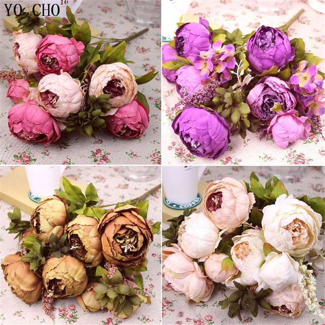 Artificial Peony Bouquet Wedding Decoration Peonies Silk Flower Fake Rose Decorative Home Party