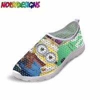 Summer Popular Women Super Light Mesh Shoes Game Minion Rush Breathable Slip on Flats Female Casual Beach Water minion Shoes
