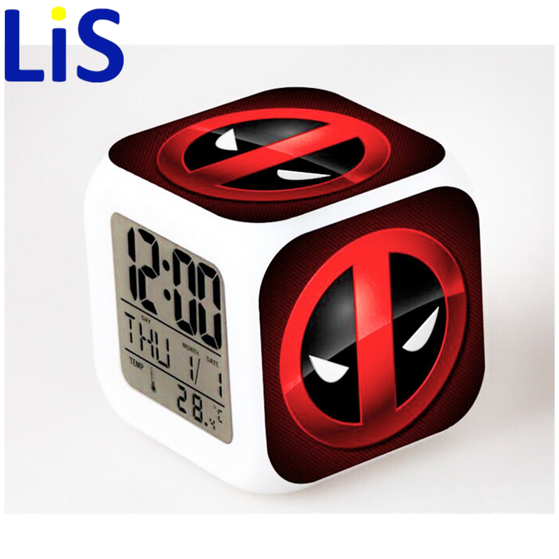 Lis 2016 deadpool Alarm Clock Toys Minecraft PVC Action Figures Toys For Kids Christmas Gifts lED Electronic Clocks Toys SA581 lps pet shop toys rare black little cat blue eyes animal models patrulla canina action figures kids toys gift cat free shipping