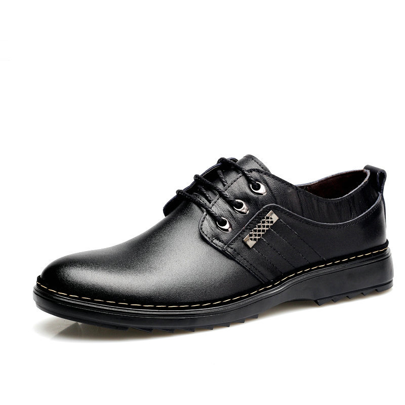 ФОТО Nice Nice Fashion Men Genuine Leather Shoes High Quality Men Flats Low Top Men Shoes Frees Hipping 616