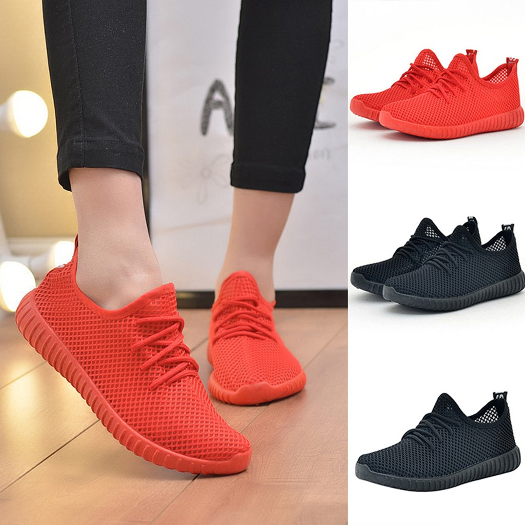 Women's Breathable Sneakers Fashion Women's Ladies Casual Anti-Slip Sport Walking Sneakers Running Soft Shoes Sports Shoes @20(China)