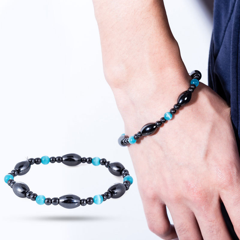 Magnet Weight Loss Slimming Bracelet Stretch Anti Fatigue Healing Bracelet Hand Chain Health Care Magnetic Stone Therapy Jewelry