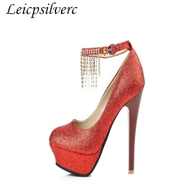 LEIT Talons Hauts Femmes Dentelle Rouge Chaussures Femme Pearl,41,Red