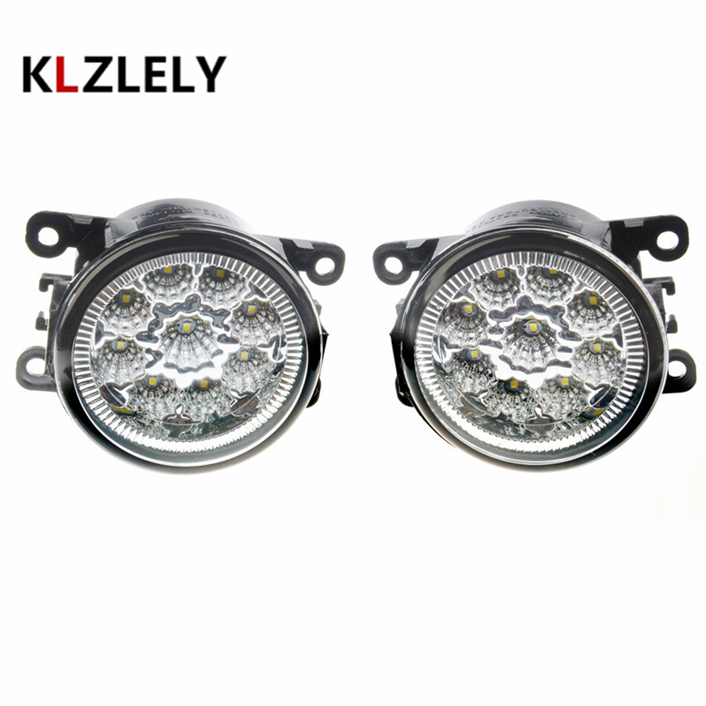 For Peugeot 207 307 407 607 3008 SW CC VAN 2000-2013 Car styling front bumper LED fog Lights high brightness fog lamps 1set front fog lights for peugeot 207 307 407 607 3008 sw auto right left lamp car styling h11 halogen light 12v 55w bulb assembly