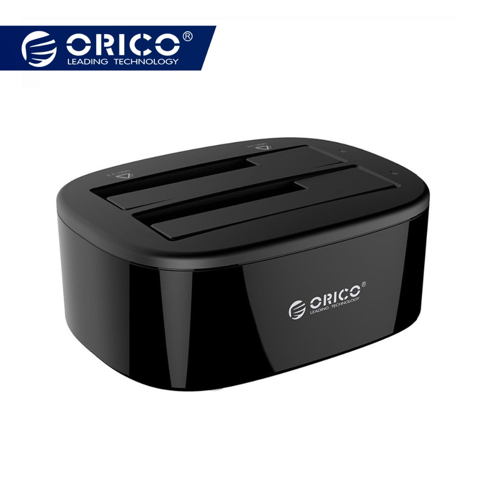 ORICO USB 3.0 à SATA Double-Bay Disque Dur Station D'accueil pour 2.5/3.5 pouce HDD/SSD avec Hors Ligne Clone Fonction [UASP Protocole]