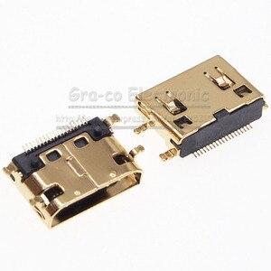 10 pièces plaqué or MINI prise femelle HDMI 19Pin C Type SMT pied