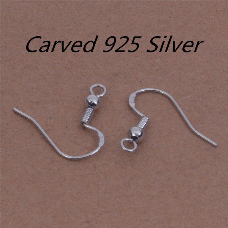 50PCS 18MM Jewelry Findings 925 Sterling Silver French Hook Earrings Ear Wires