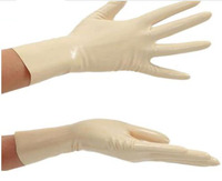 sexy White Latex Gloves Sexy Lingerie Rubber Wrist Gloves Women Zentai Fetish Short Hot Sale