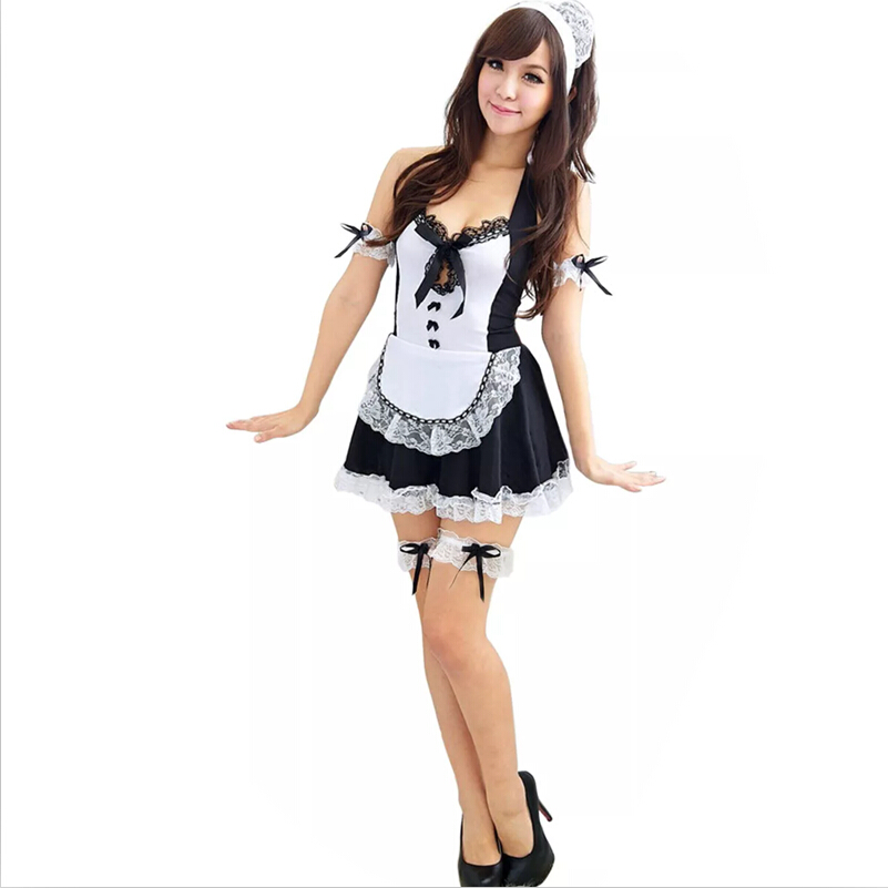 New 2019 women sexy late nite french maid costume Servant cosplay sexy women dress exotic apparel maid