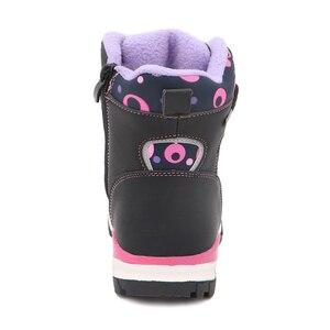 Image 4 - Sevimli kartal kış kız çizmeler sıcak yün okul açık sevimli bebek fermuar çizmeler peluş kauçuk kış kar botları kızlar ab boyutu 27 32