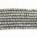 Blanco de plata de piedra de Hematita Magnética Caliente natural de Nueva 4X6mm 5X8mm 6X10mm ábaco bolas facetadas sueltas 15 pulgadas B251