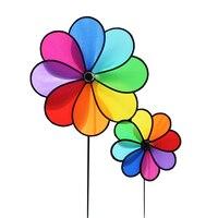 Sıcak Oyuncak Fırıldak Çocuklar Hediye Için Gökkuşağı Bahçe Rüzgar Spinner Çiçek Fırıldak Açık Eğlenceli