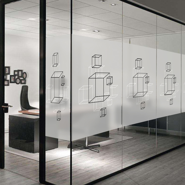 Company Glass Door Waistline Sticker Custom Frosted Translucent Opaque Office Removable Static