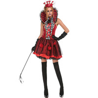 Halloween Queen Luxury Clothing Poker Queen Role Playing Disfraces Sexy Cosplay Princess Red Costumes Stage Fancy