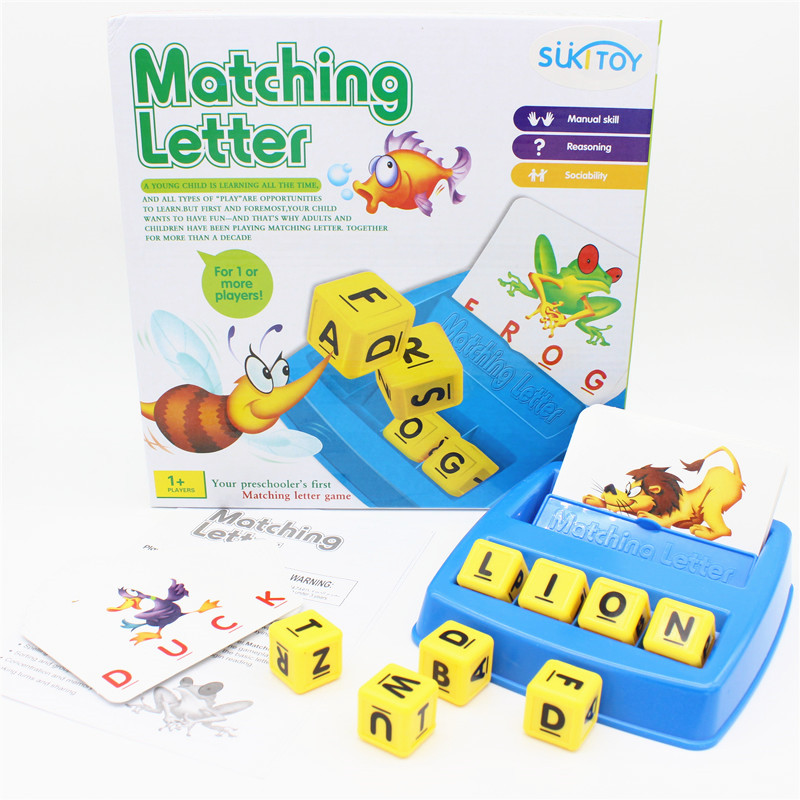 цены  SUKIToy Matching Letter Word Learning Kid's Desktop Game Educational Toys Multicolour Marbles Game With Children Creative IQ Toy
