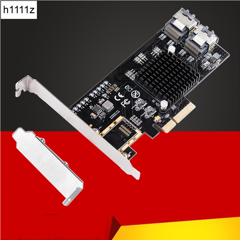 Kabel Clever H1111z Hinzufügen Auf Karten Pci-e/pcie Sata Karte Pci Express Sata Controller Pcie Zu Sata 3,0 Karte 8 Port Sata3 Expansion Adapter