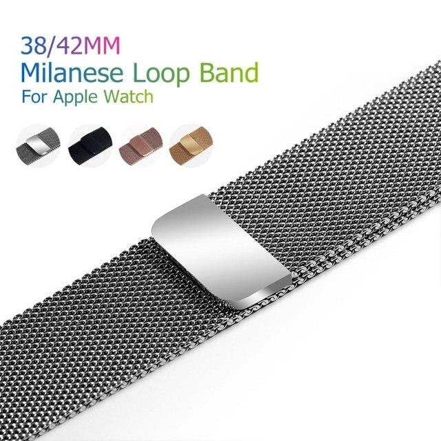Спортивный Браслет Milanese Loop Магнитная часовая полоса для Apple Watch полосы металла нержавеющая сталь ремень ремешок Замена