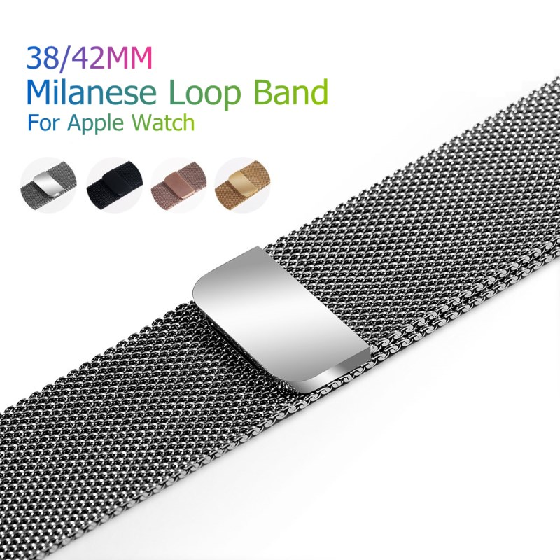 Sport Bracelet Milanese Loop Magnetic Watch Band For Apple Watch Bands Metal Stainless Steel Belt Strap Watchband Replacement стоимость