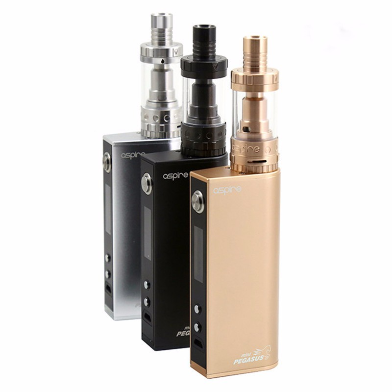 ФОТО Original Aspire Odyssey Mini Kit with Top Filling Triton Mini Atomizer Pegasus Mini 50W 18650 Box Mod E Cigarette Kit