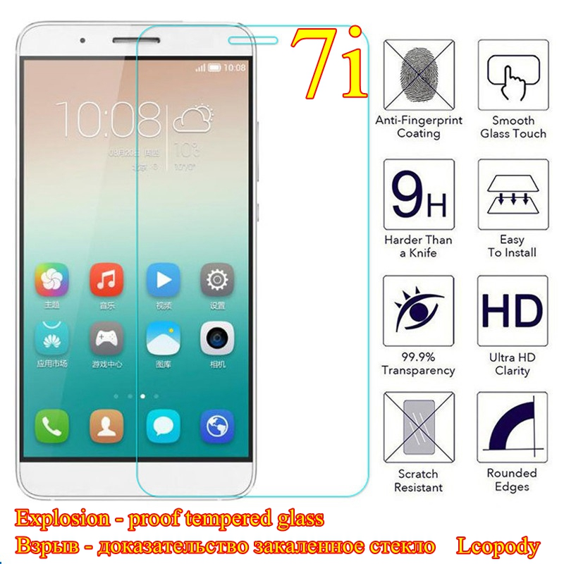 Закаленное стекло для Huawei Shot X Honor 7i, защита экрана, защитная пленка для huawei 7i, искусственные чехлы для смартфонов