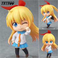 YNYNOO Nisekoi Anime PVC Action FIgure Kirisaki Chitoge GSC #421 Cute Nendoroid Collectibles Nisekoi Figure For Girl Gifts P534