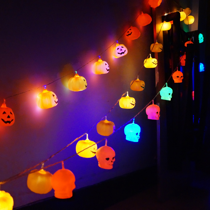 Halloween skull pumpkin decorative string lights Fairy light hotel bar KTV decorative props ...