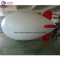 4m long inflatable balloon zeppelin helium blimp,customized airship inflatable advertising helium blimp