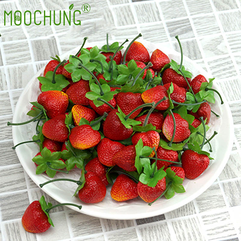 fake strawberries realistic lifelike decorative artificial strawberry fruit for decoration arrangements home house kitchen decor memang store - Strawberry Kitchen Decoration