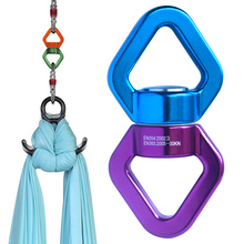 30KN Yoga Accessories Carabiner Universal Ring Gimbal climbing Rotary Connector Rotational Hammock Spinner Rope Swivel Connector