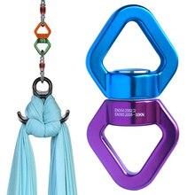 Anneau pour accessoires de Yoga et mousqueton universel, connecteur rotatif pour cardan, rotatif, hamac, avec pivot, avec corde 30KN