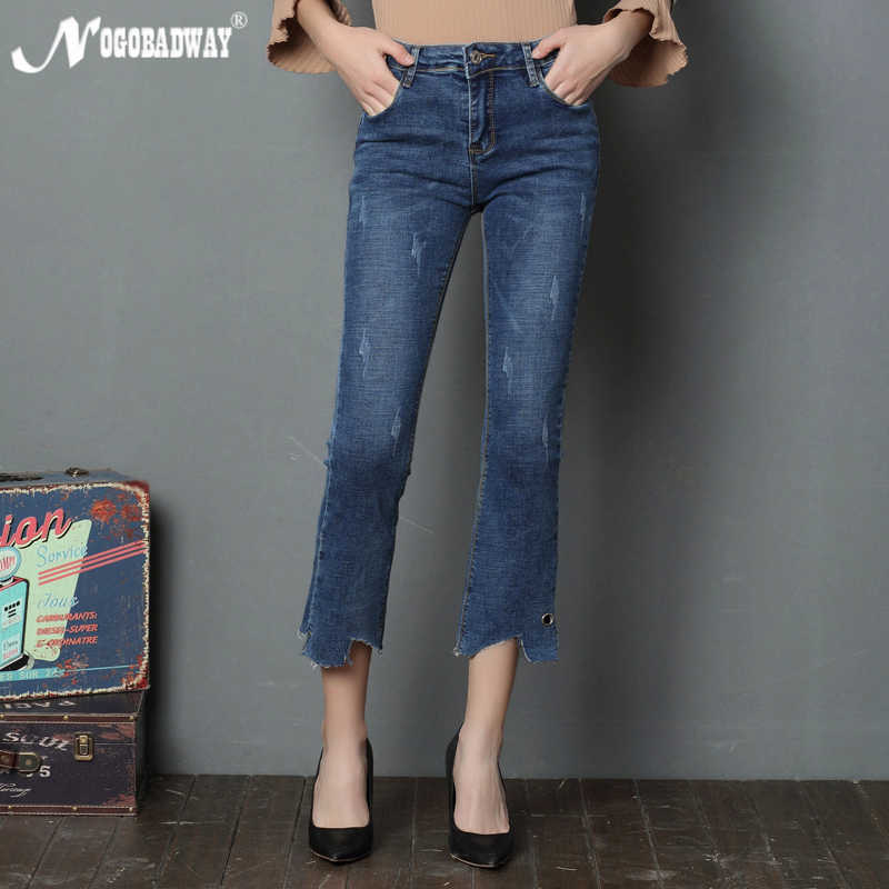 969013927017b2 Flare jeans women summer 2018 casual fashion vintage denim pants femme slim  skinny trousers stretch waist