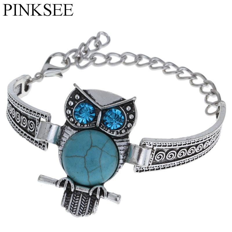 PINKSEE Owl Silver Color...