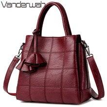 VANDERWAH Top-handle bags Leather luxury handbags women bags designer tote bag high quality shoulder Crossbody bag SAC A MAIN