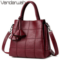 VANDERWAH Brand Handbag Female Large Capacity Tote Bag High Quality PU Leather Shoulder Bag Women