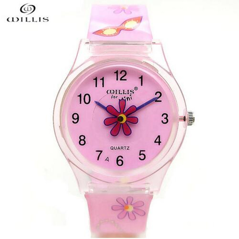 Latest Styles Fashion Girls Watches Silicone Wristwatch Mixed Colors Lover's Watches Women Sport Plastic Clock Kids Watch