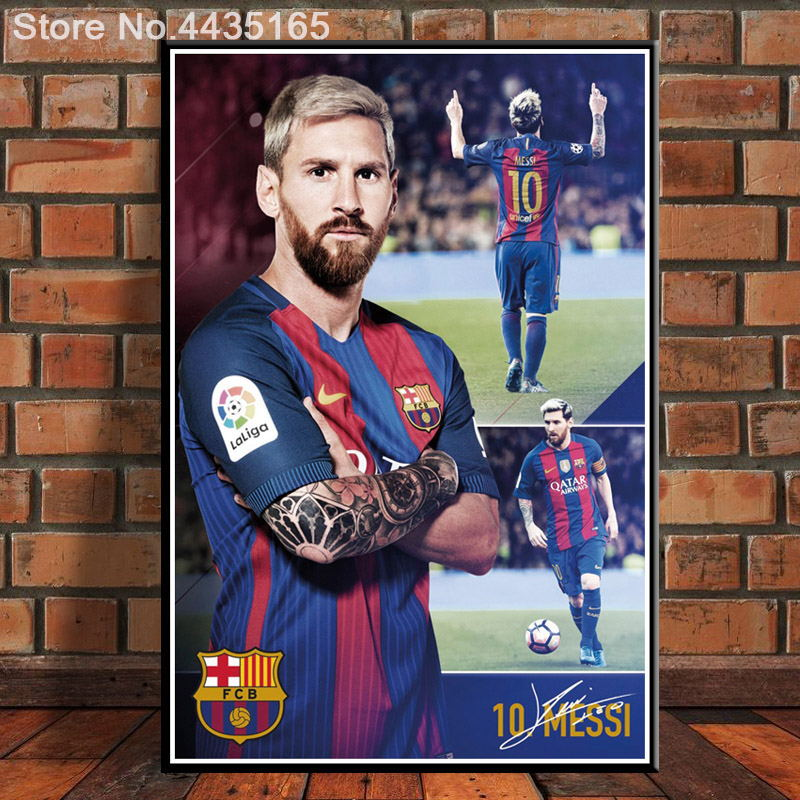 61x91 S550 Messi Super Soccer Star Football Sport