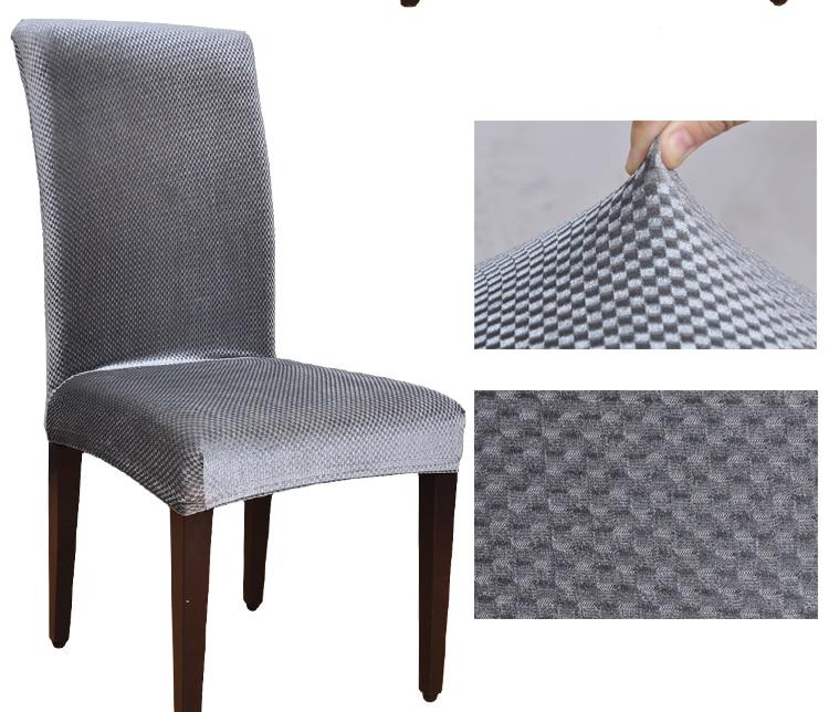 Dining Chair Covers Aliexpress Hip Surgery Velvet Fabric Universal Elastic Spandex Housse De Chaise Office ...