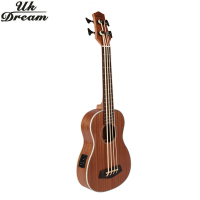 Guitarra Electrica Wooden Guitar Musical Instruments 30 Inch Full Sapele Vintage Retro Closed Knob Ukulele Only