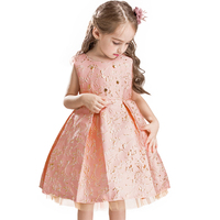 Autumn New Style Baby Girl Flower Girl Dress For Wedding Kids Party Dresses Christmas Dress For
