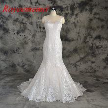 champagne and ivory special lace design wedding dress classic mermaid style wedding gown custom made factory wholesale price