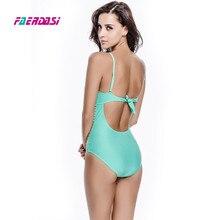 Faerdasi 2018 Sexy One Piece Swimsuit Women Mesh Bathing Suit Bandage Swimwear Push up Beach Wear Swimsuits Monokini Beachwear