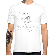 Freedom 2017 Fashion Creative Printed Men's Customized T-shirt Casual Basic Tops Hipster