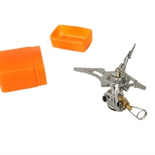 Portable Outdoor Camping Picnic Folding Mini Gas Stove with Piezo Ignition free shipping