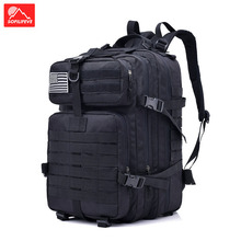 купить 40L Outdoor Climbing Bag Tactical Backpack Military Men Camping Hiking Rucksack Sports Luggage Travel Backpack Male Backpack дешево