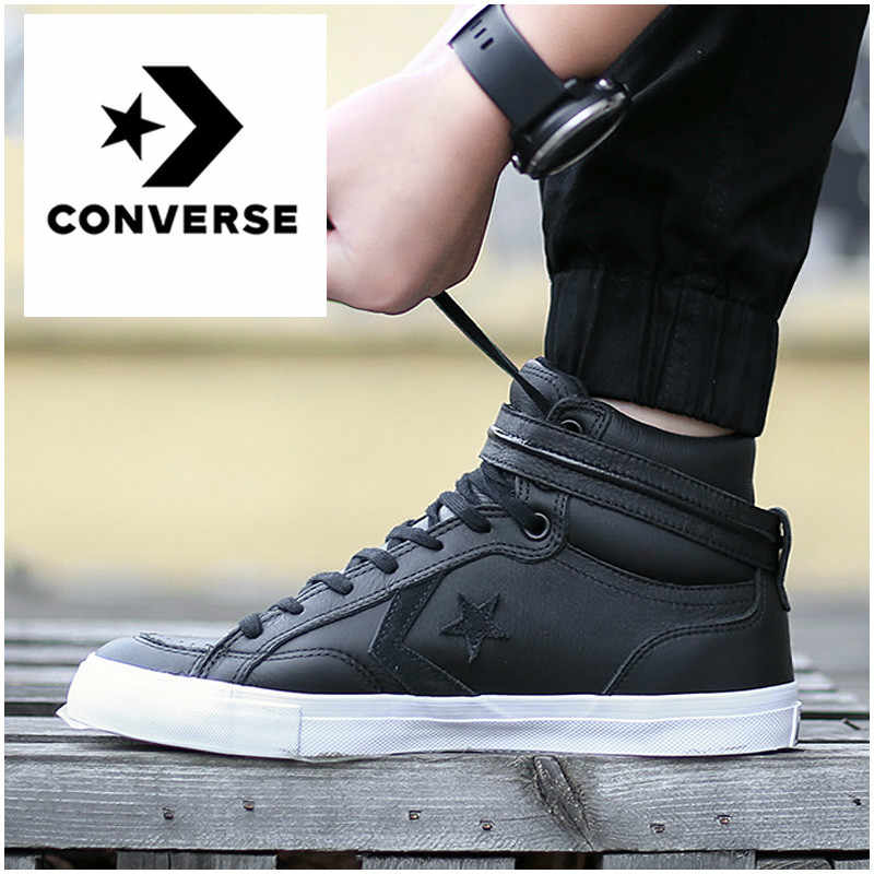 9a224411d5537a CONVERSE Magic Stick Men s Shoes High Leather Thermal Canvas Shoes Hook  Loop Increase Internal Waterproof Leisure