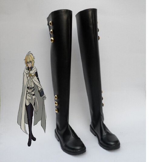 Seraph Of The End Cosplay Shoes Mikaela Hyakuya Boot Military Uniform Cosplay Costume Ferid Bathory Boots