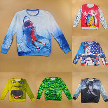 23423a7c2ac9 Raisevern New Harajuku 3D Sweatshirt Men Womens Casual Hoodie Jordan Hulk  Shrek Cuke Kanye West Print Clothes