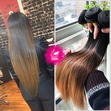 9A Mink Brazilian Virgin Hair Weave 100% Human Hair Ombre Hair Extensions 1 Bundle Ombre Weave 1B/4/30 Ombre Brazilian Hair