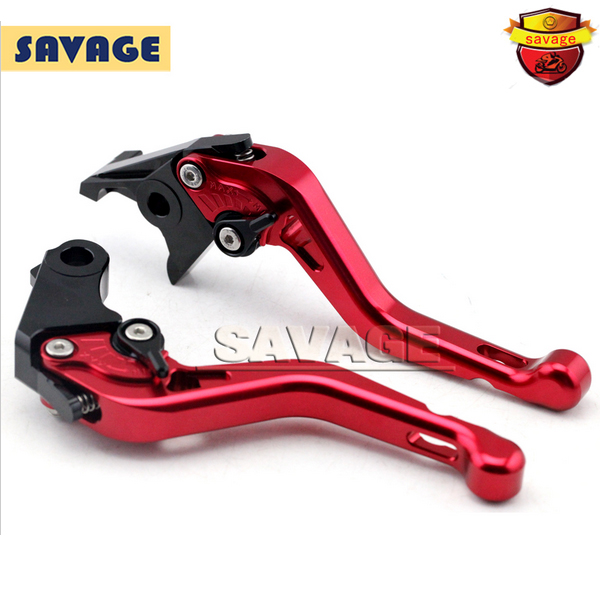 ФОТО For HONDA CB600F CB600S CB900F HORNET CBF600 N/S Red Motorcycle CNC Billet Aluminum Short Brake Clutch Levers