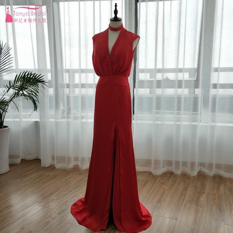 Платья для выпускного вечера Необычные Новый 2018 v образным вырезом Fiesta лиф Вечерние платья дешевые платья невесты сбоку Разделение вечерни